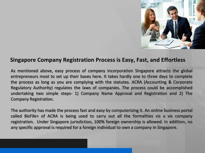 Singapore Company Registration Process is Easy, Fast, and Effortless