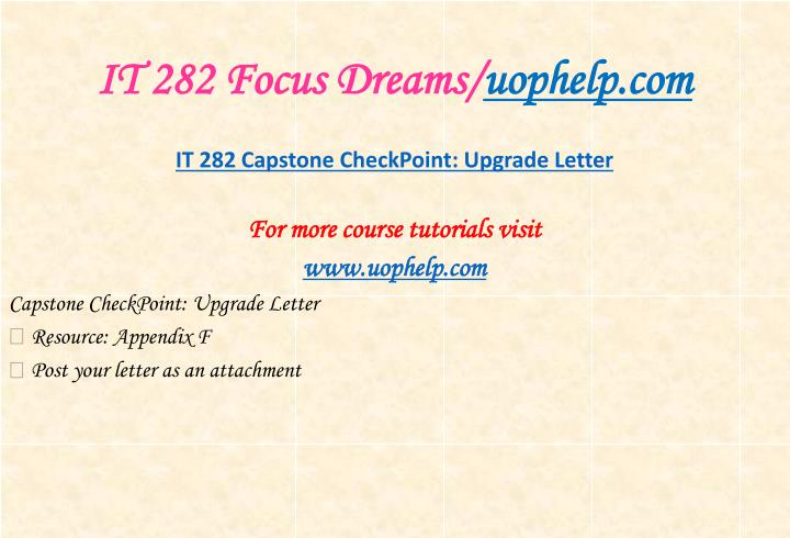 It 282 focus dreams uophelp com1