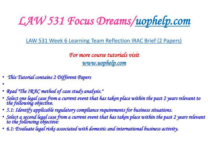 business regulation law 531