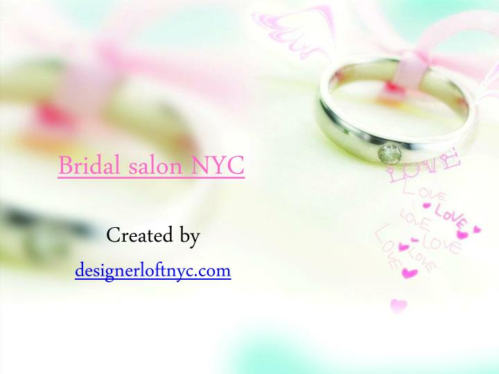 Bridal salon NYC