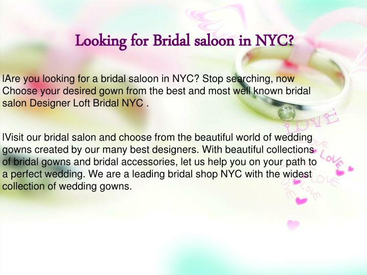 Looking for Bridal saloon in NYC?