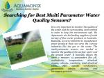 searching for best multi parameter water quality sensors