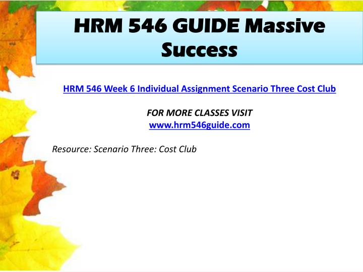 HRM 546 GUIDE Massive Success