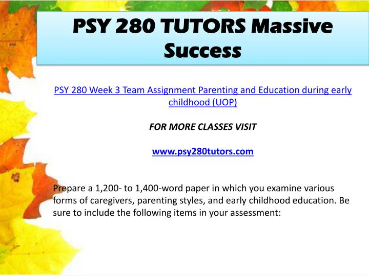 PSY 280 TUTORS Massive Success