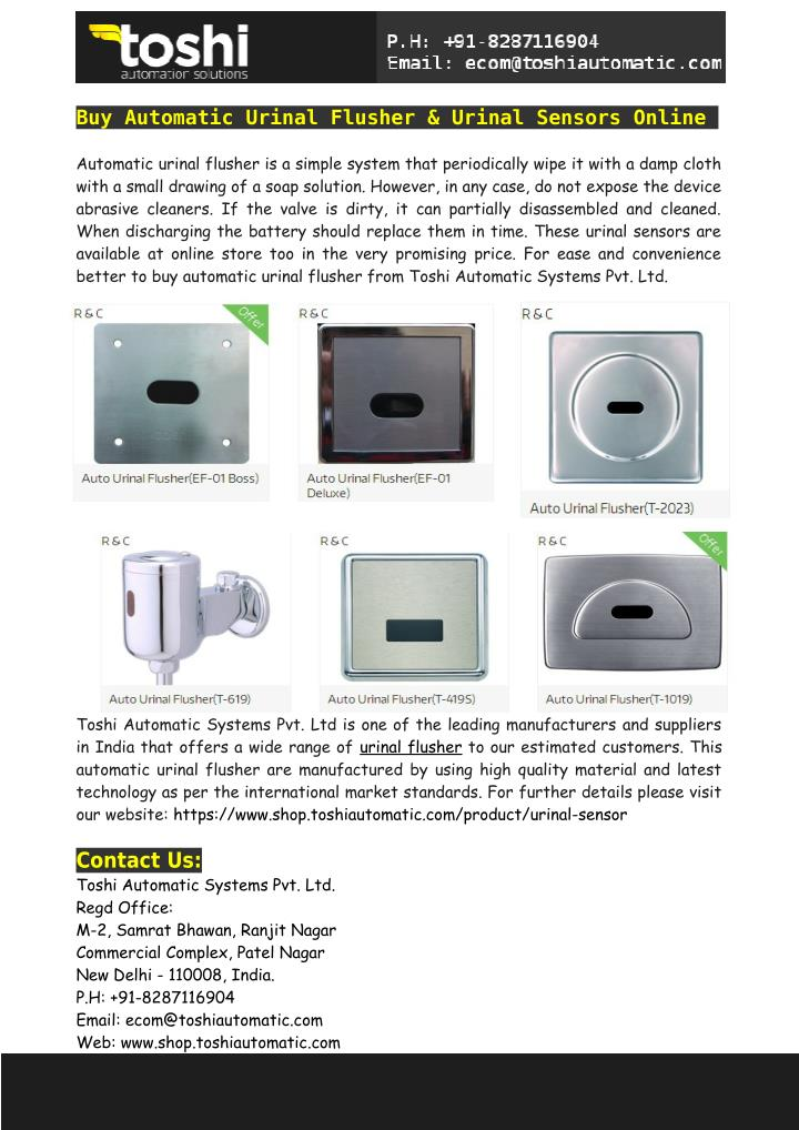 Buy Automatic Urinal Flusher & Urinal Sensors Online
