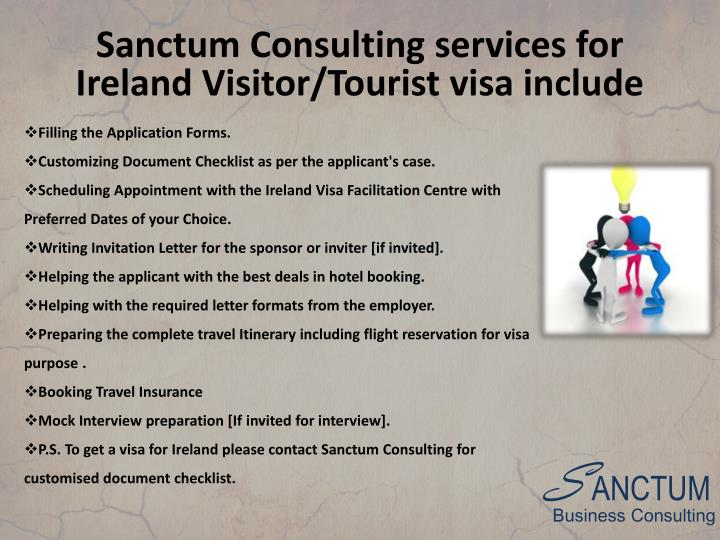 Sanctum Consulting services for Ireland Visitor/Tourist visa include