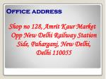 office address