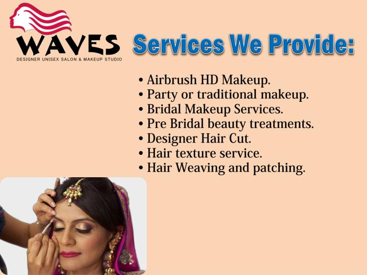 Services We Provide: