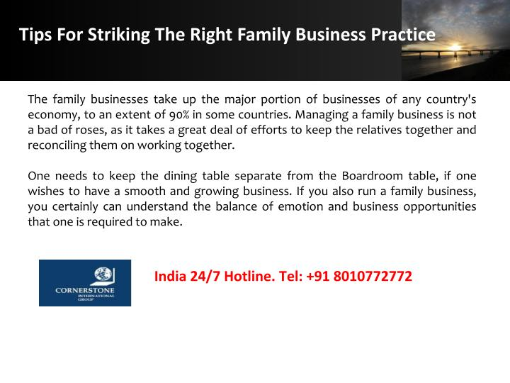 Tips For Striking The Right Family Business Practice