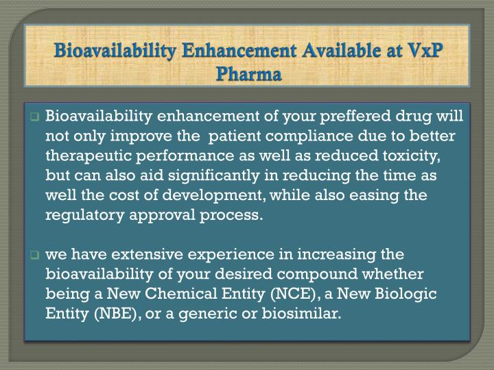 Bioavailability Enhancement Available at