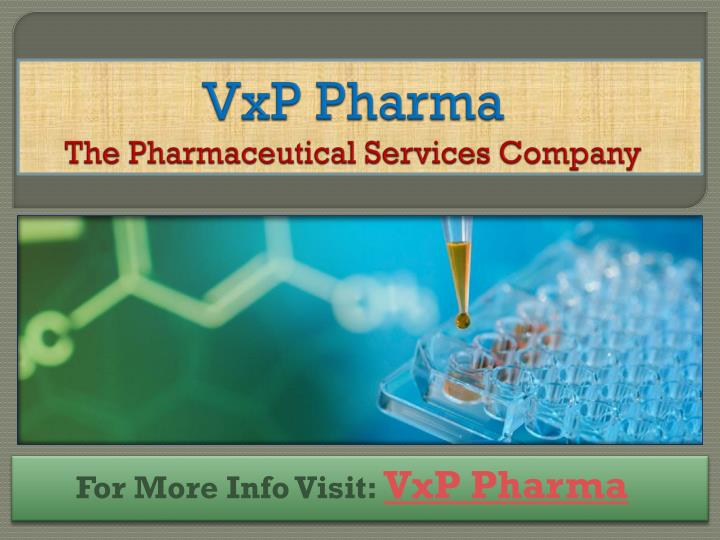 Vxp pharma the pharmaceutical services company