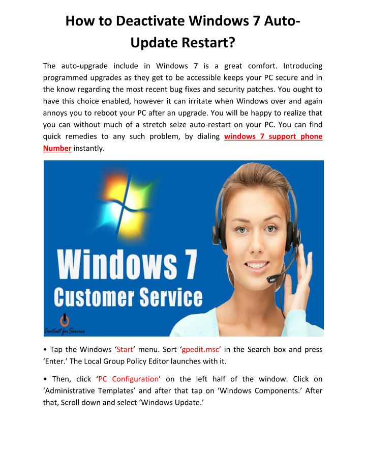 How to Deactivate Windows 7 Auto-