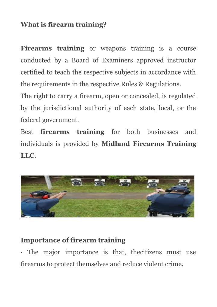 What is firearm training?