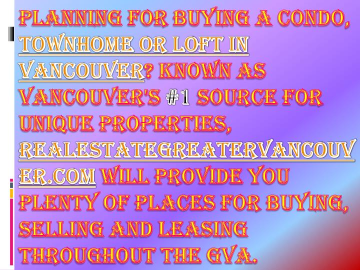 Planning for buying a condo,