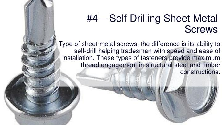#4 – Self Drilling Sheet Metal Screws