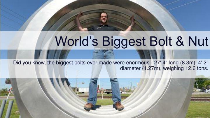 World's Biggest Bolt & Nut