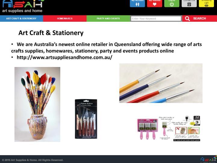 Art Craft & Stationery
