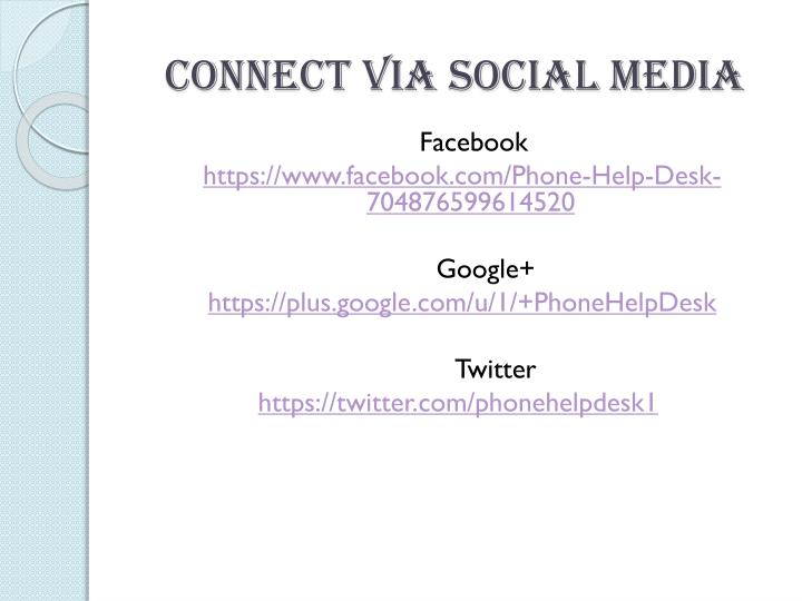 Connect Via Social Media