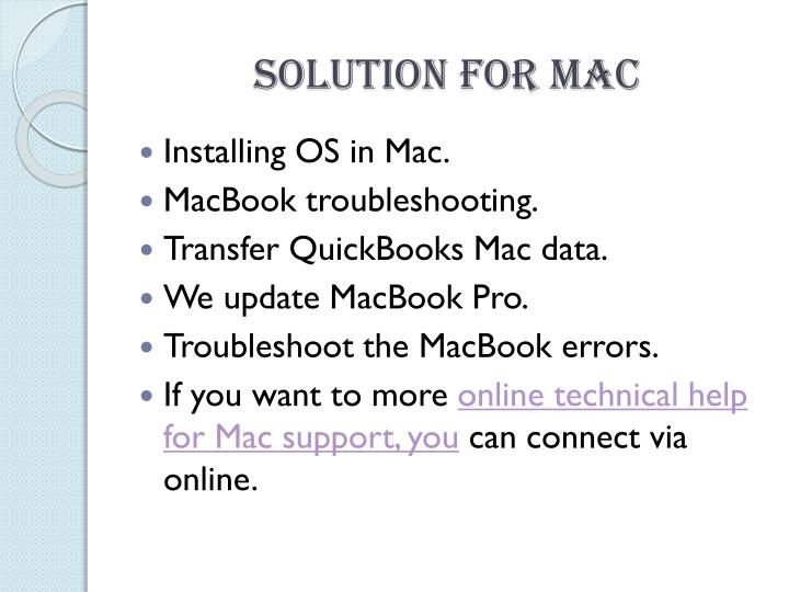 Solution For Mac