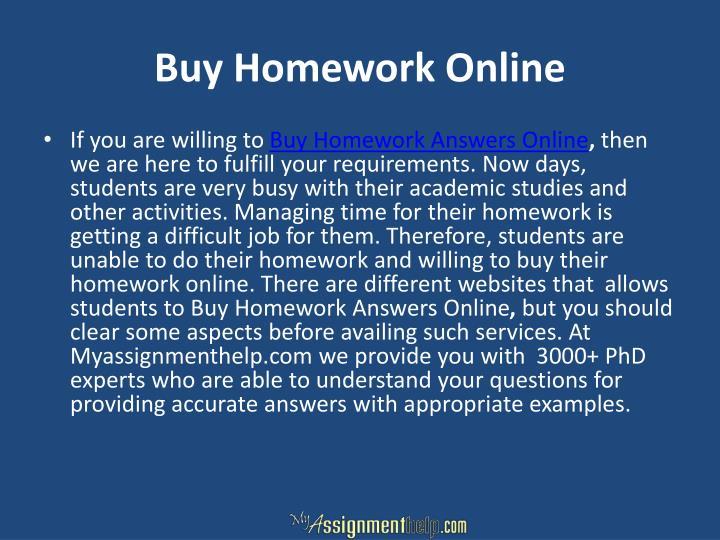 Buy Homework Online
