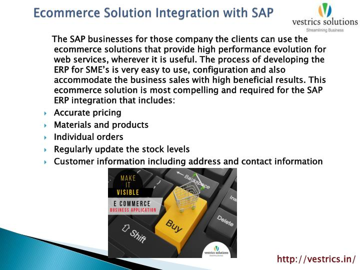 Ecommerce Solution Integration with SAP