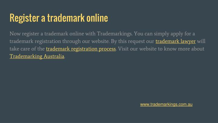 Register a trademark online