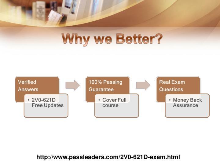 http://www.passleaders.com/2V0-621D-exam.html