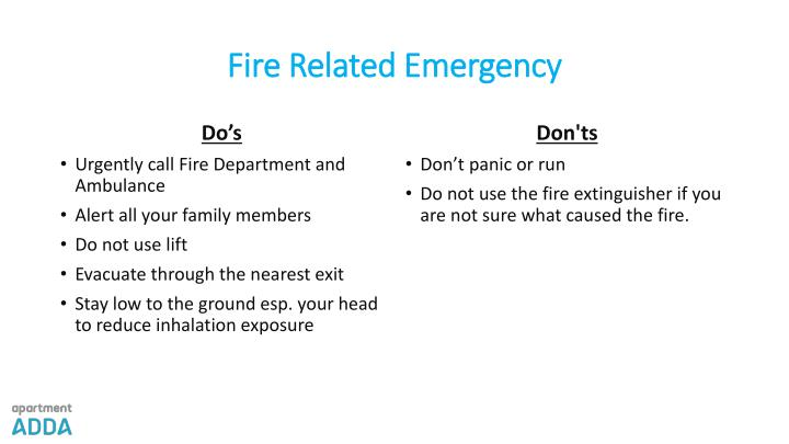 Fire Related Emergency