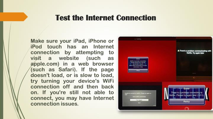 Test the internet connection