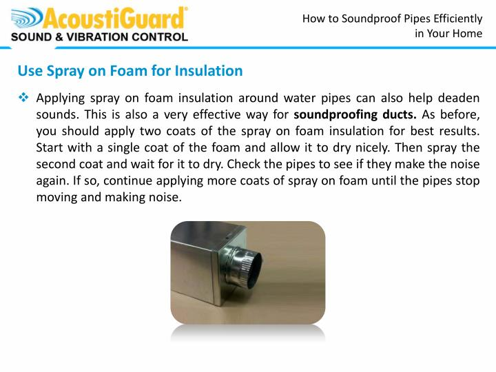 How to Soundproof Pipes Efficiently