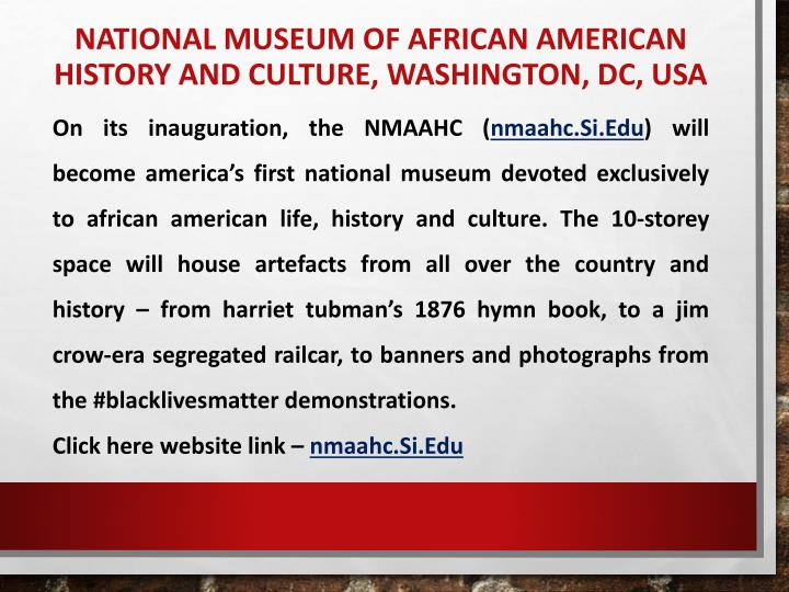 National Museum of African American History and Culture, Washington, DC, USA