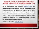 national museum of african american history and culture washington dc usa