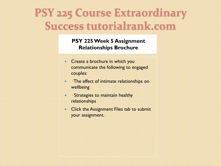 PSY 225 Week 5 Assignment Relationships Brochure