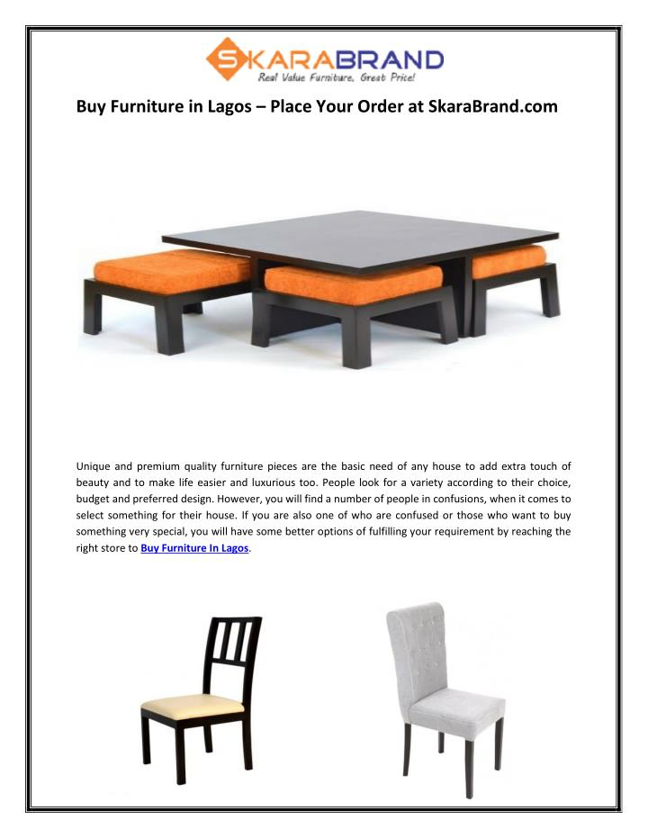 Buy Furniture in Lagos