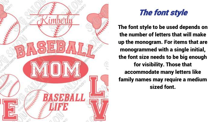 The font style