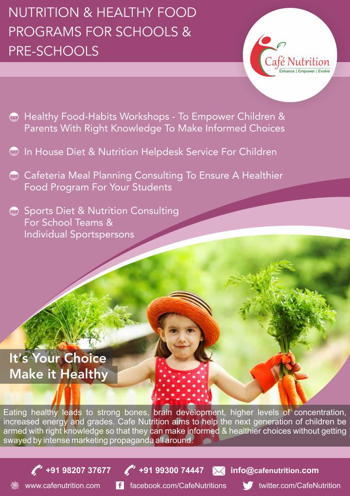 Right nutrition plan for children