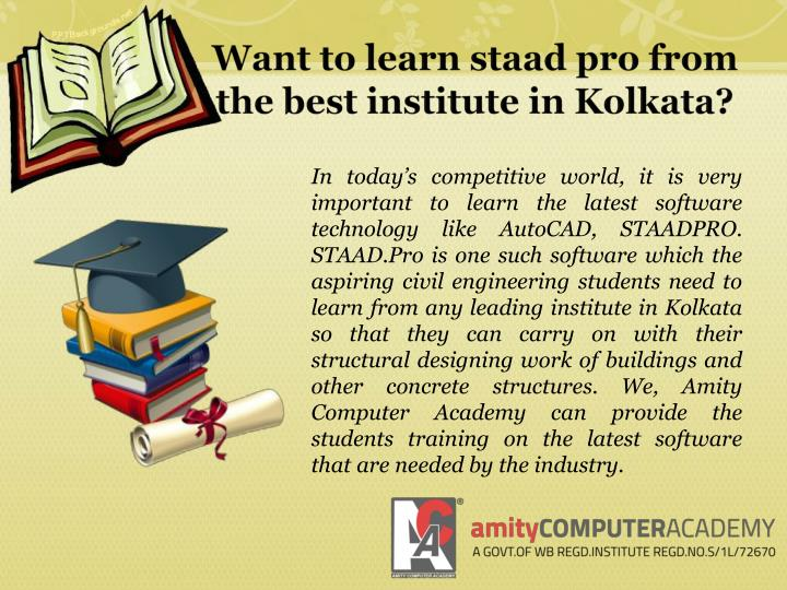 Want to learn staad pro from the best institute in Kolkata?