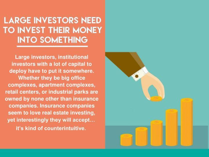 Large investors, institutional