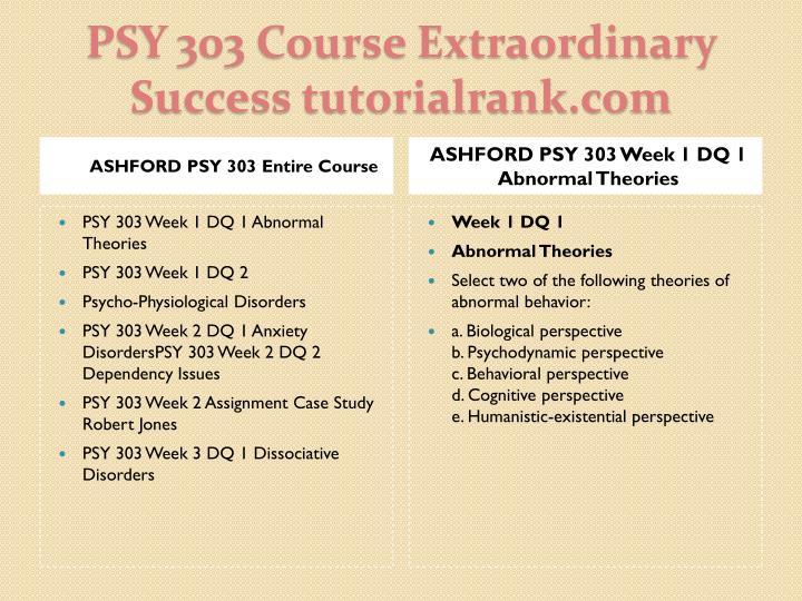 ASHFORD PSY 303 Entire Course