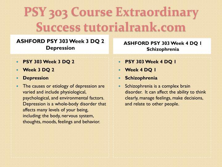 ASHFORD PSY 303 Week 3 DQ 2 Depression