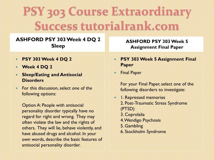 ASHFORD PSY 303 Week 4 DQ 2 Sleep