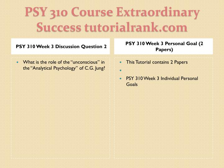 PSY 310 Week 3 Discussion Question 2