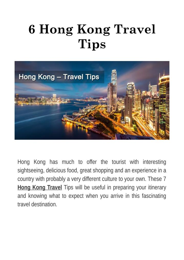 6 Hong Kong Travel