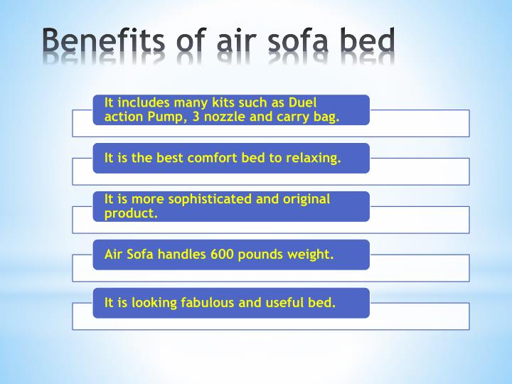 Benefits of air sofa bed