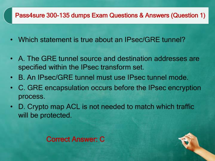 Which statement is true about an IPsec/GRE tunnel?
