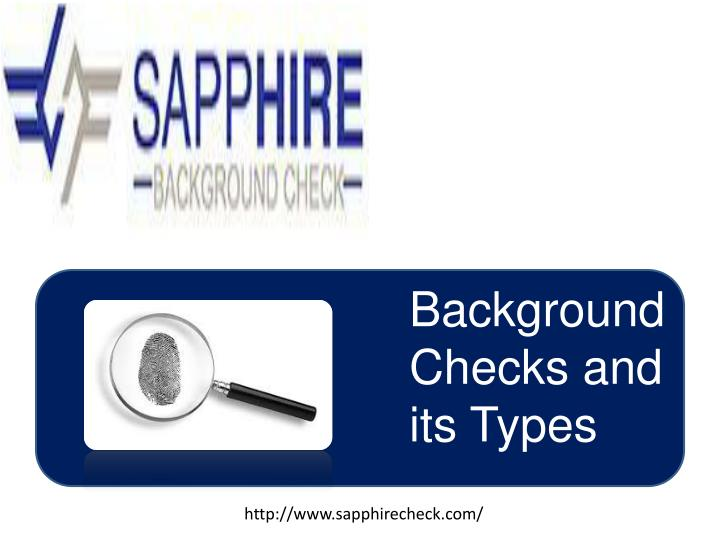 Background Checks and its Types