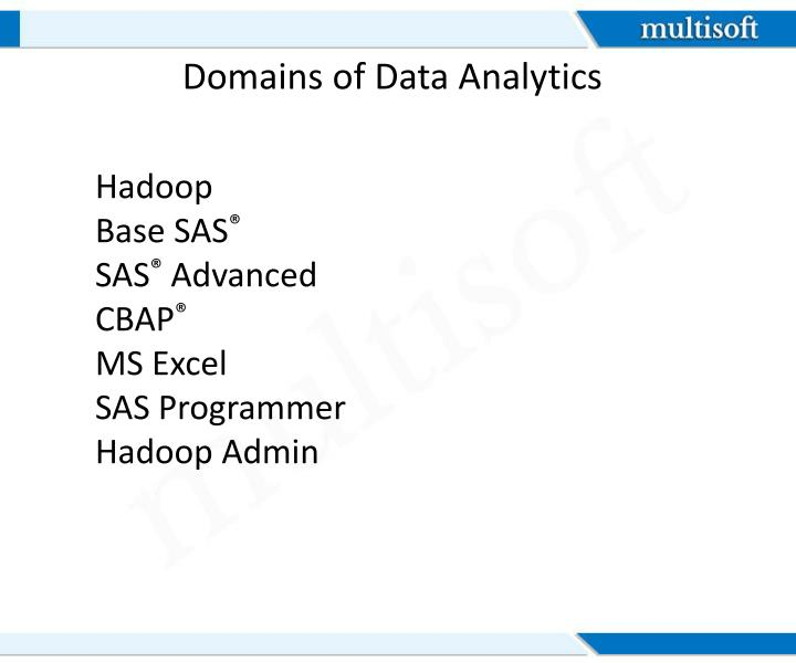 Domains of Data Analytics