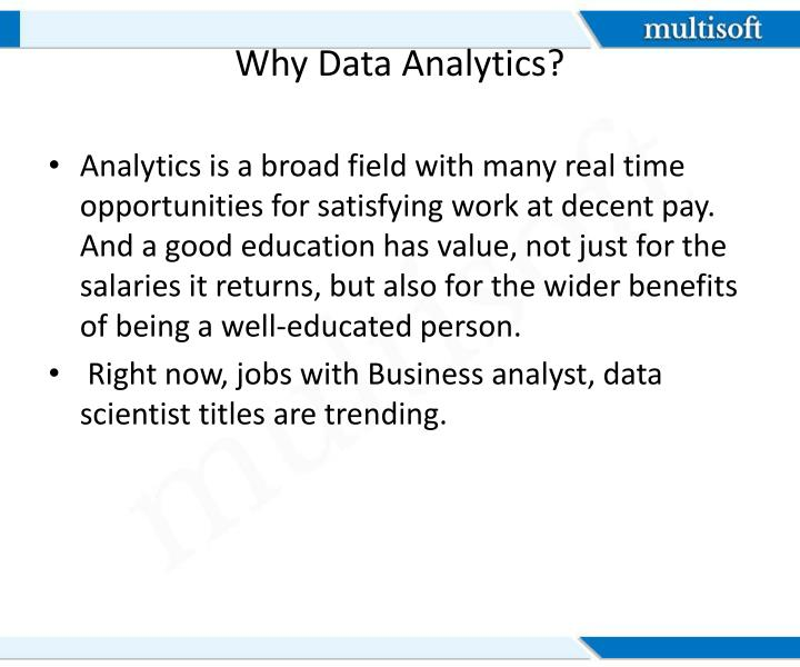 Why data analytics