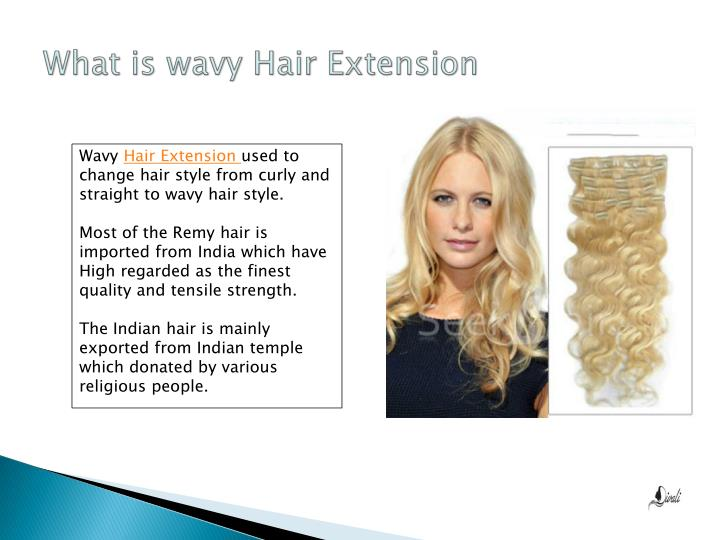 What is wavy hair extension