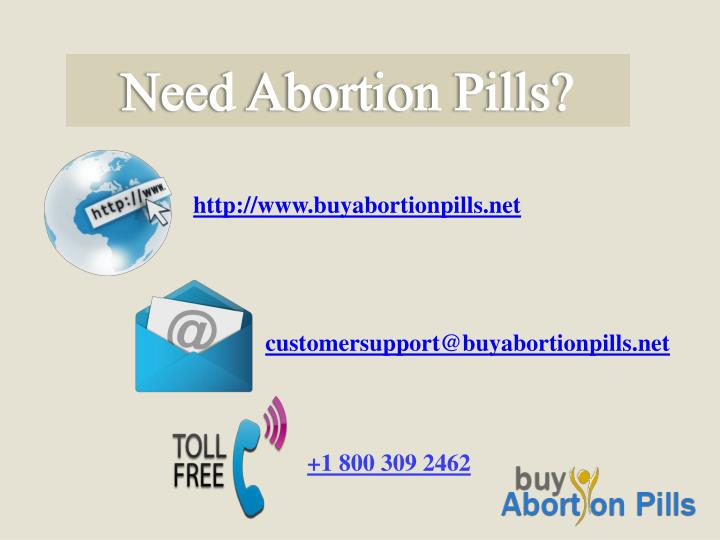 Need Abortion Pills?